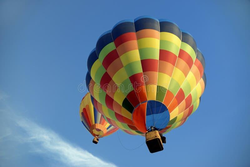 7 μπαλόνια αέρα καυτά στοκ εικόνα