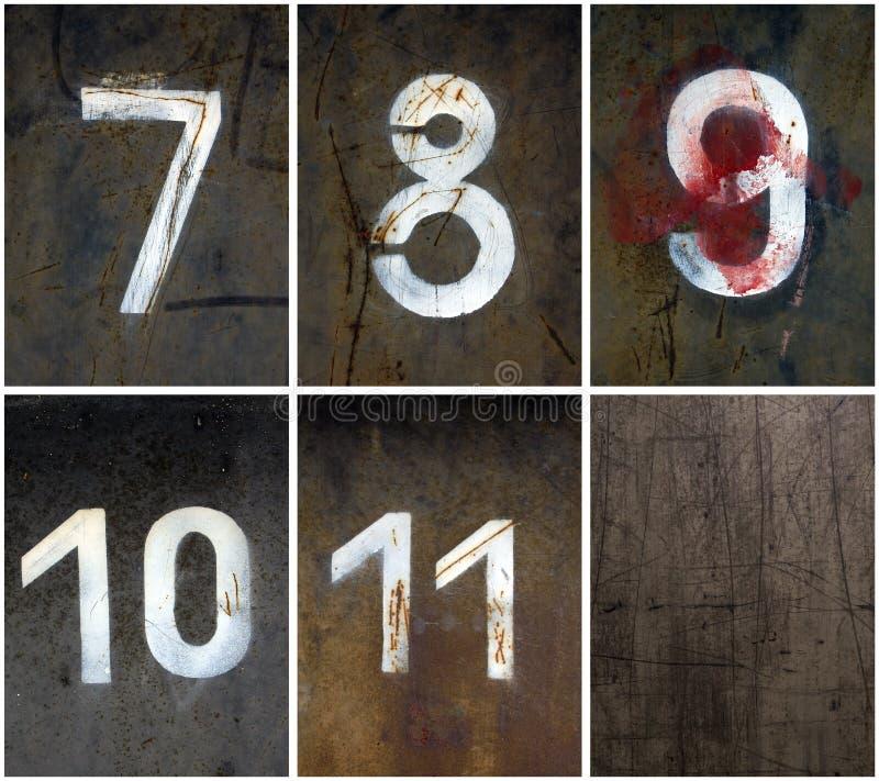 7 11 αριθμοί σκουριασμένα στοκ φωτογραφία με δικαίωμα ελεύθερης χρήσης