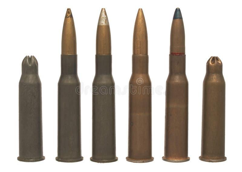7 54 62 x изолированный боеприпасыами стоковое фото rf