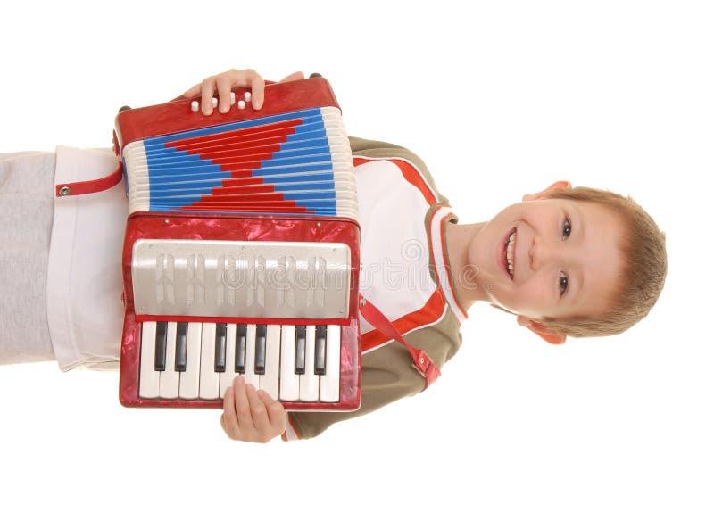 7 akordeonów chłopcze obraz royalty free