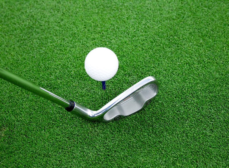 7 balowego klubu golfa widok zdjęcia royalty free