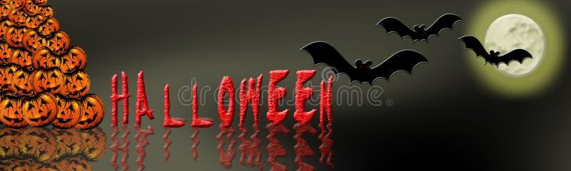 7 banner Halloween. royalty ilustracja