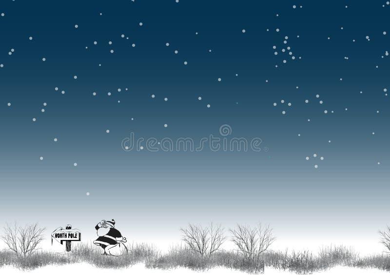 7 biegun północny royalty ilustracja