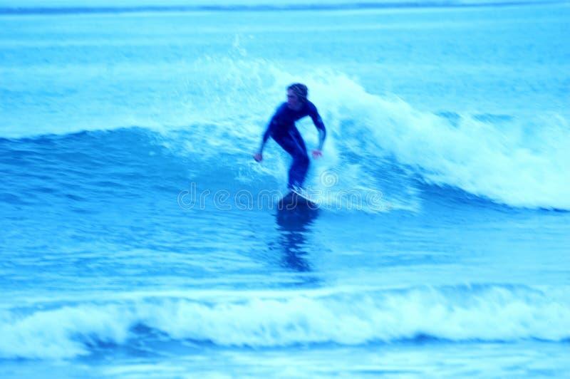 7 blåa surfarear arkivfoton