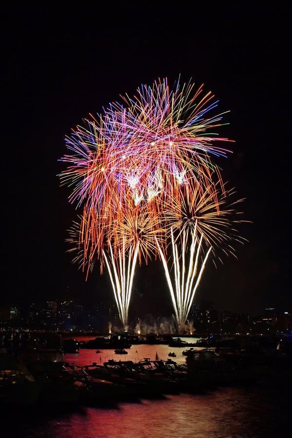 7 bostonu fajerwerk zdjęcie stock