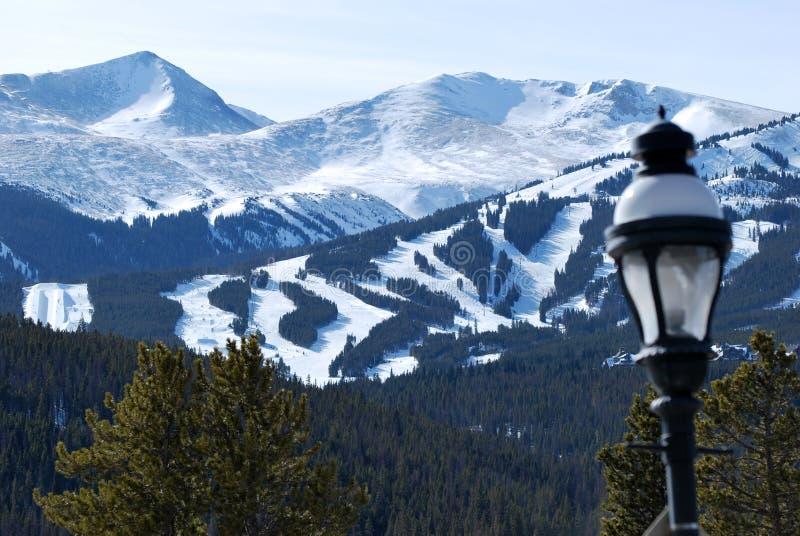 7 breckenridge高峰手段滑雪 库存图片
