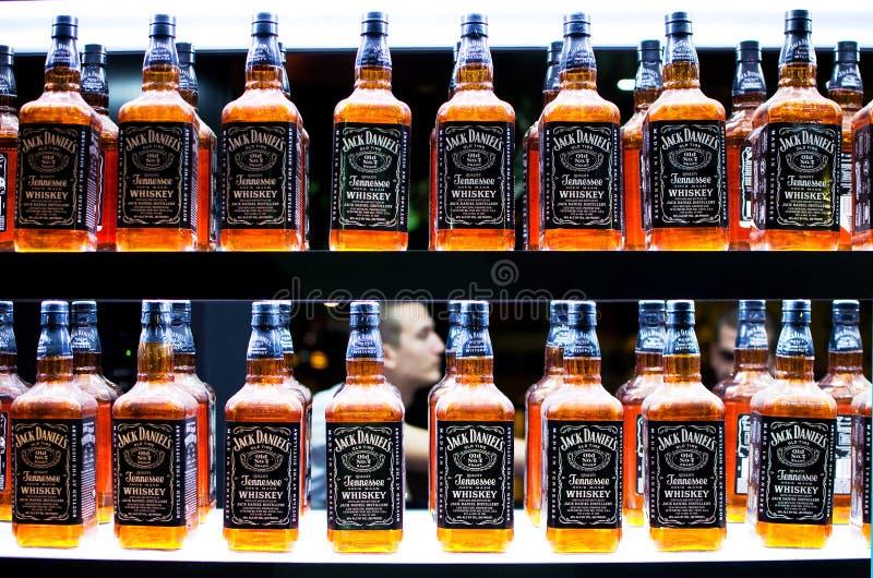 7 daniels不顶起老威士忌酒 图库摄影