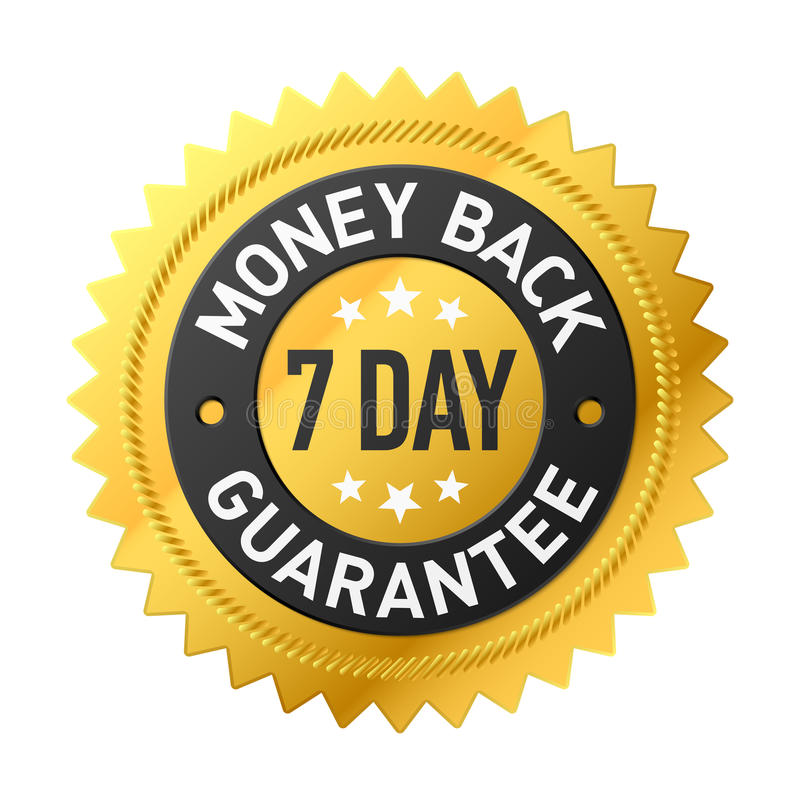 Free 7 Day Money Back Guarantee Label Royalty Free Stock Photography - 91898897