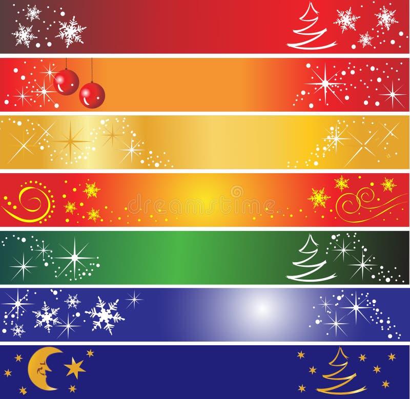 7 de banners van Kerstmis royalty-vrije stock foto's