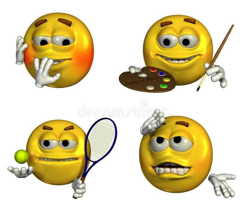 7 emoticons 4 ilustracji