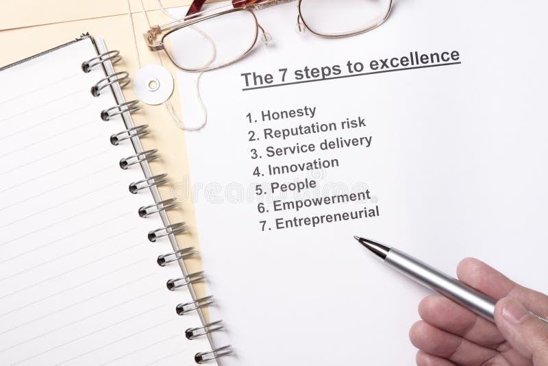 7 etapas à excelência imagem de stock royalty free
