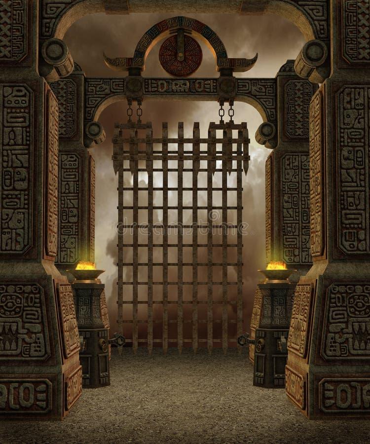 7 fantazj świątynia royalty ilustracja