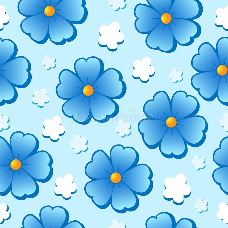 7 flowery άνευ ραφής ανασκόπησης απεικόνιση αποθεμάτων