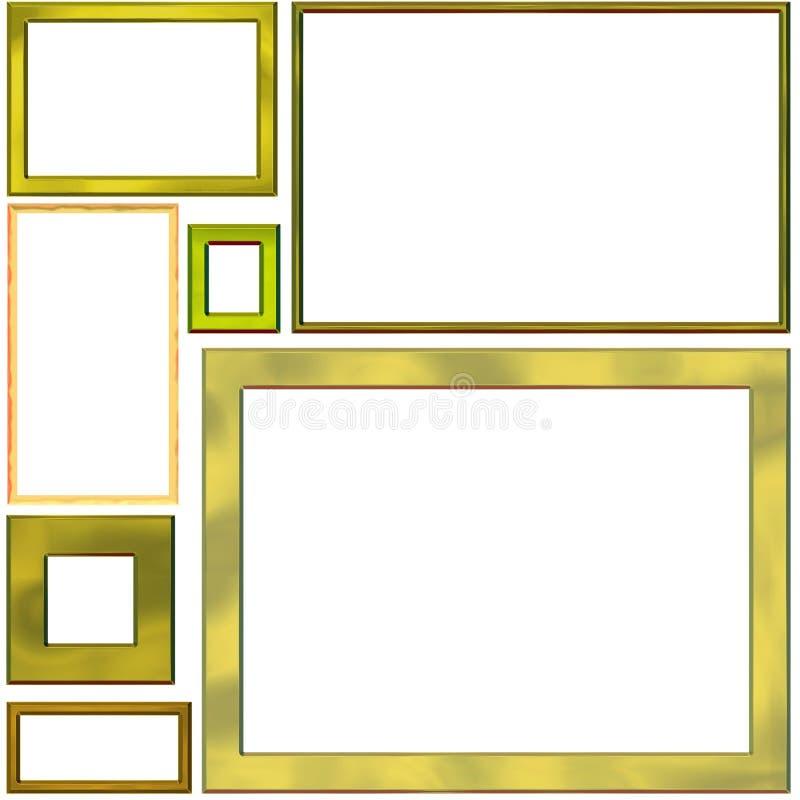 7 frames vector illustratie
