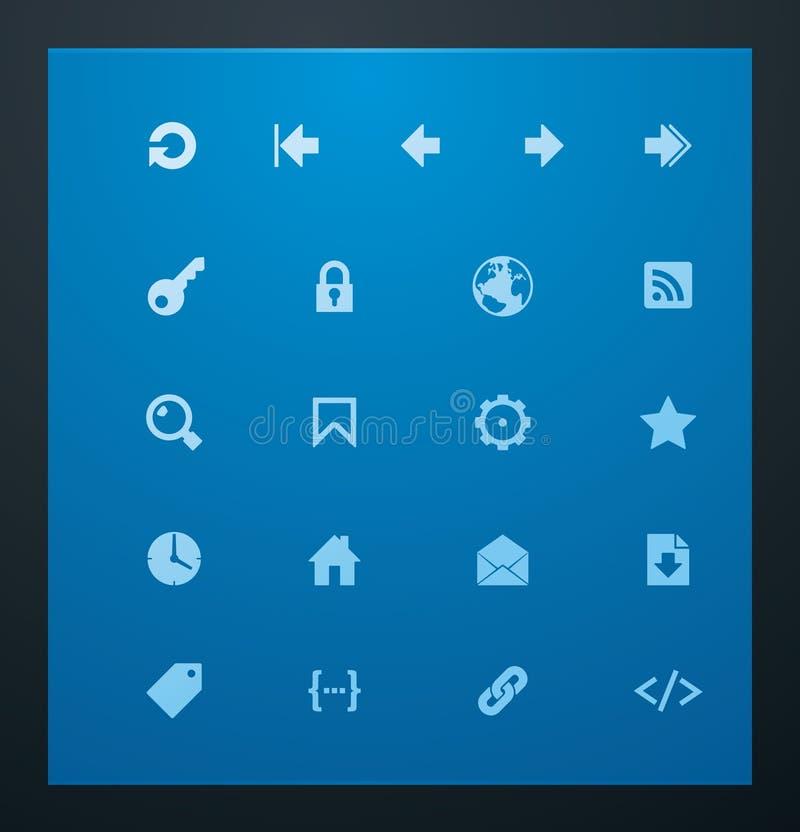 7 glifów ikon cechy ogólnej sieć royalty ilustracja