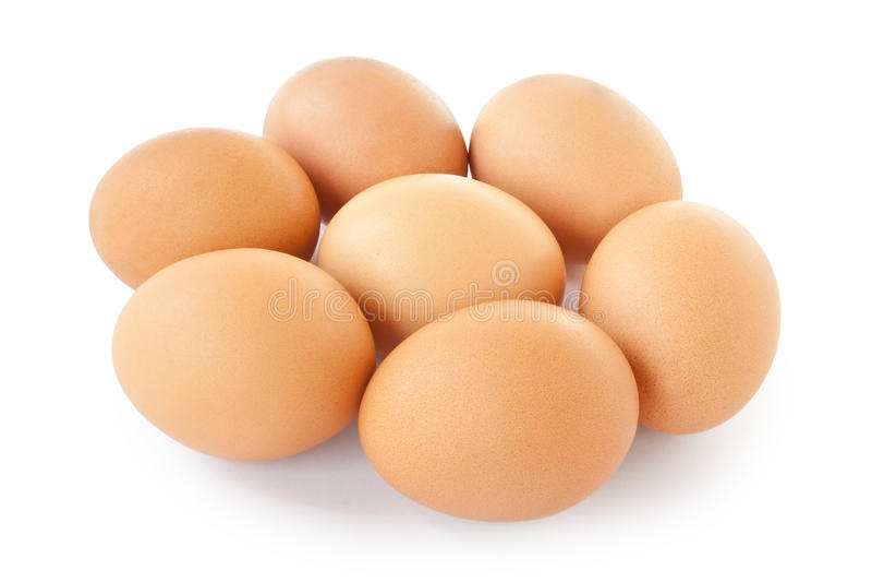 7 huevos fotografía de archivo