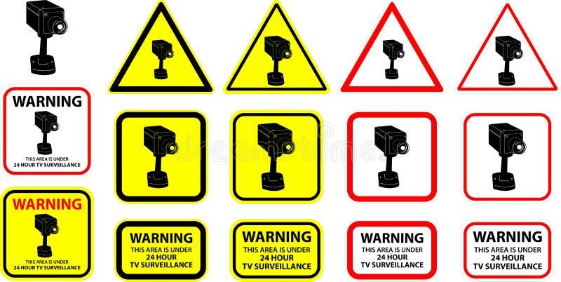 7 kamery ochrony wektor ilustracja wektor