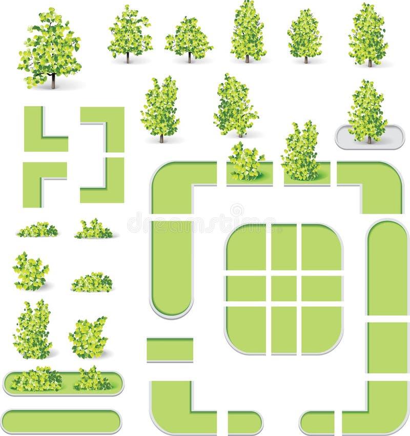 7 miast tworzenia diy zestawu losu angeles mapa parkuje część ilustracji