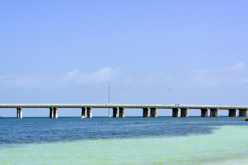 7 Mile Bridge. In Florida stock photography