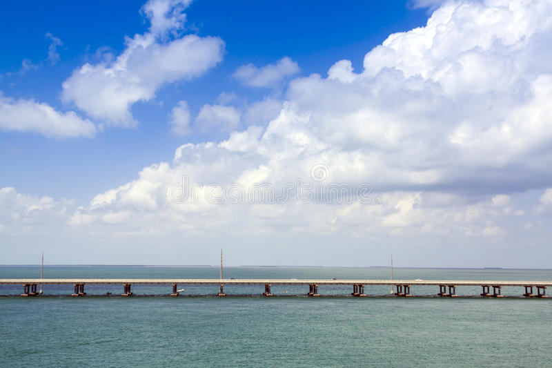 7 Mile Bridge. In Key West stock photos