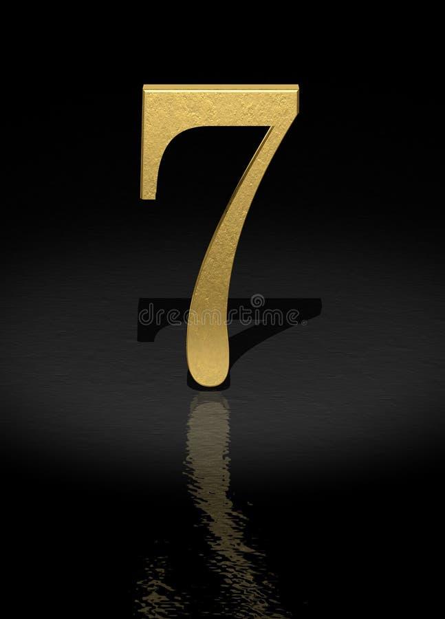 7 numerów ilustracja wektor