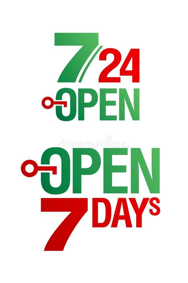 7 Open dagen vector illustratie