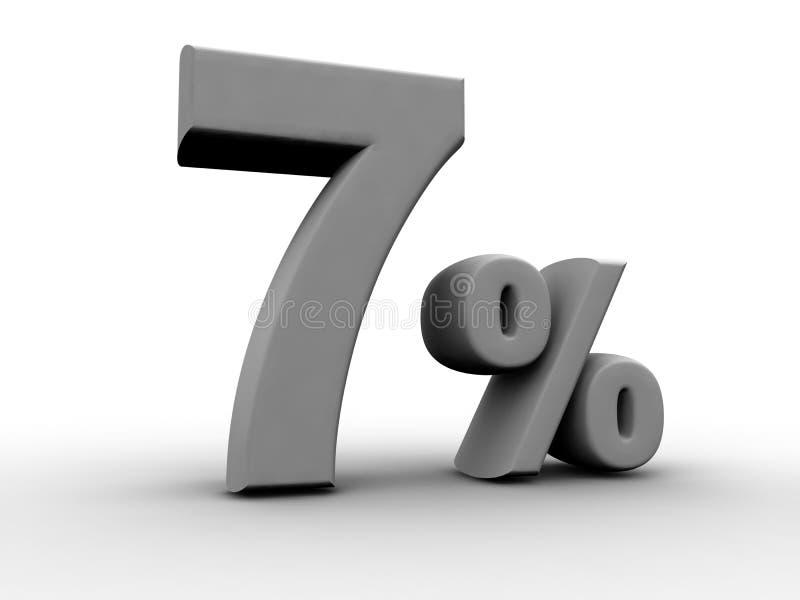 7 per cento illustrazione di stock