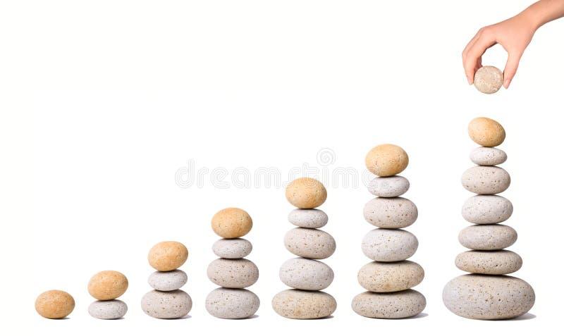 7 pilas de piedras