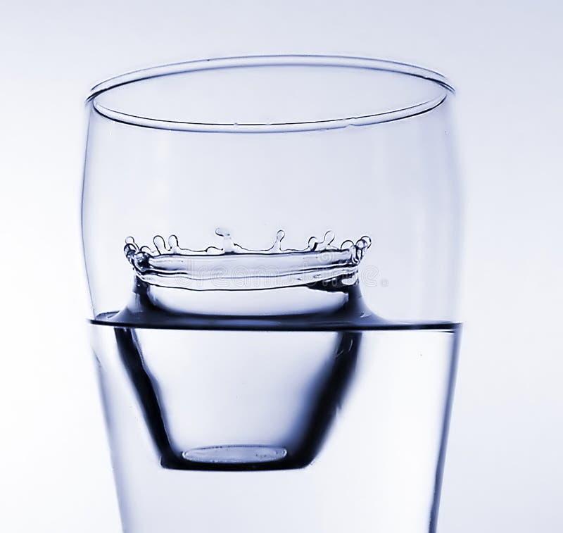 7 pluśnięć wody zdjęcie stock