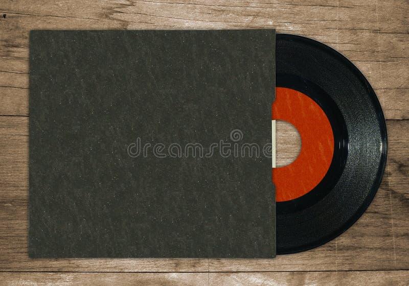 7 registrerad enkel vinyl arkivbild