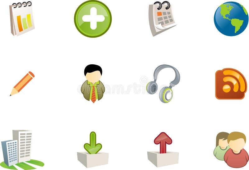7 serii ikon varico sieci royalty ilustracja