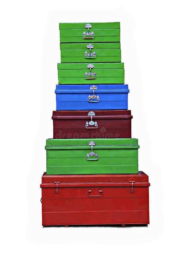 7 walizek obraz stock