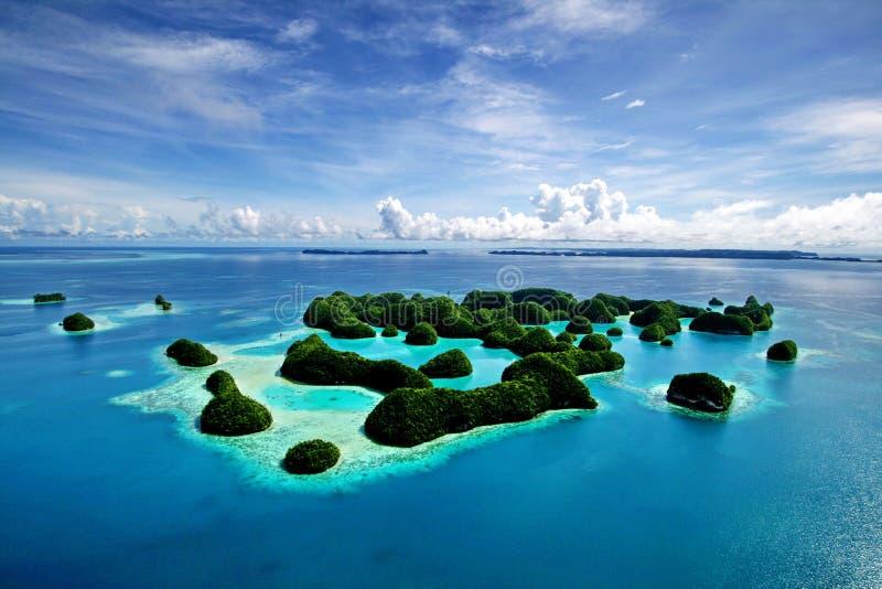 70 öar palau arkivbild