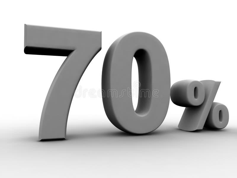 70 τοις εκατό απεικόνιση αποθεμάτων