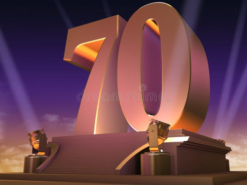 70 dorati - stile della pellicola royalty illustrazione gratis