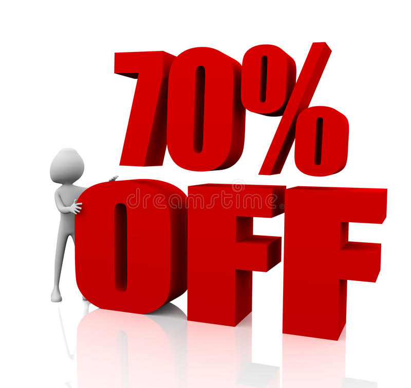 70% korting royalty-vrije illustratie