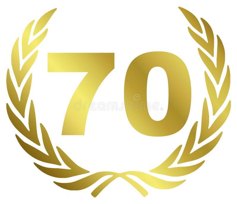 70 verjaardag stock illustratie
