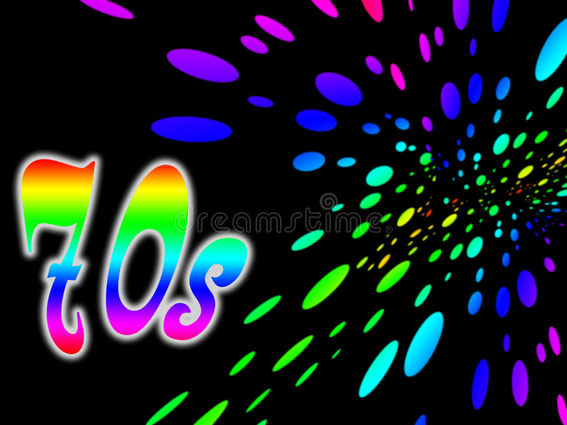70s Background Royalty Free Stock Images