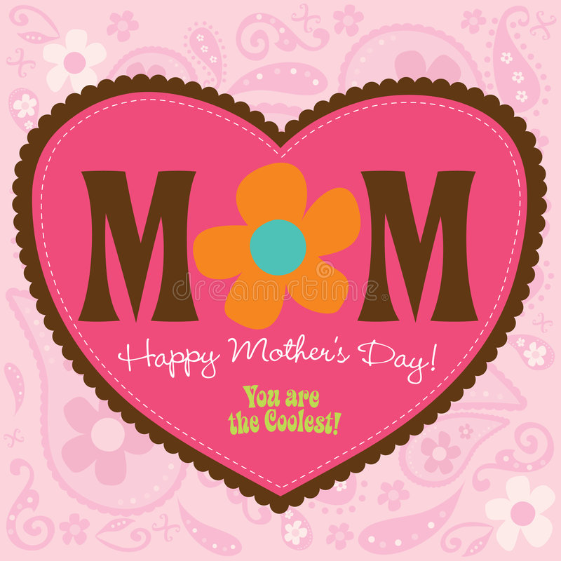 Download 70s Style Mothers Day Card stock vector. Illustration of design - 9083043