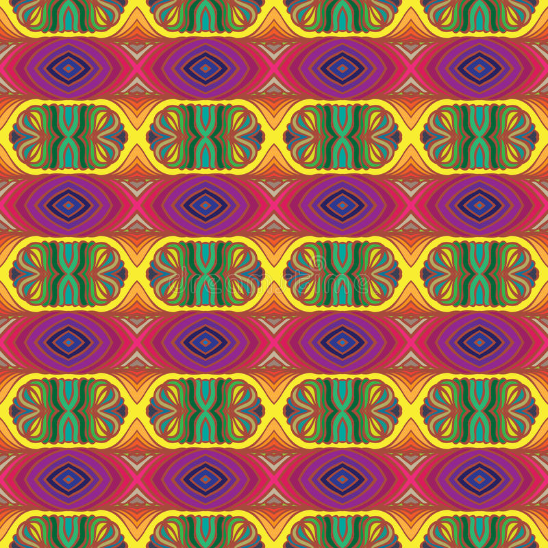 Download 70s Vector Psychedelic Pattern With Stripes Stock Vector - Image: 29303175