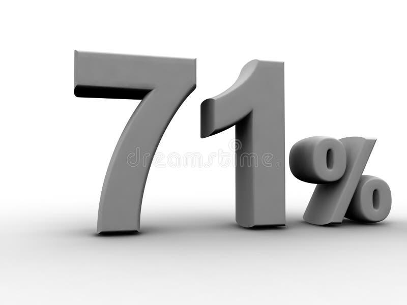 71 per cento royalty illustrazione gratis