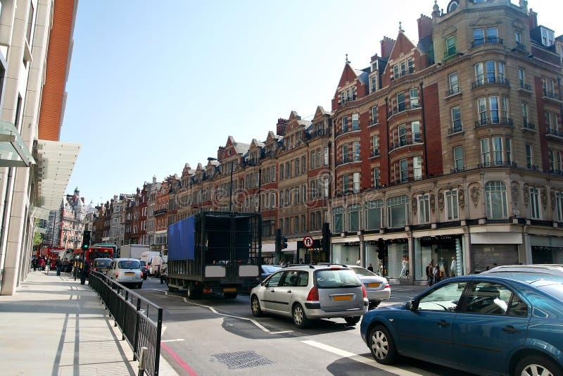 72 Brampton rd, London traffic jam royalty free stock image