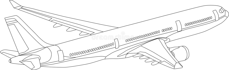 737 ilustración del vector