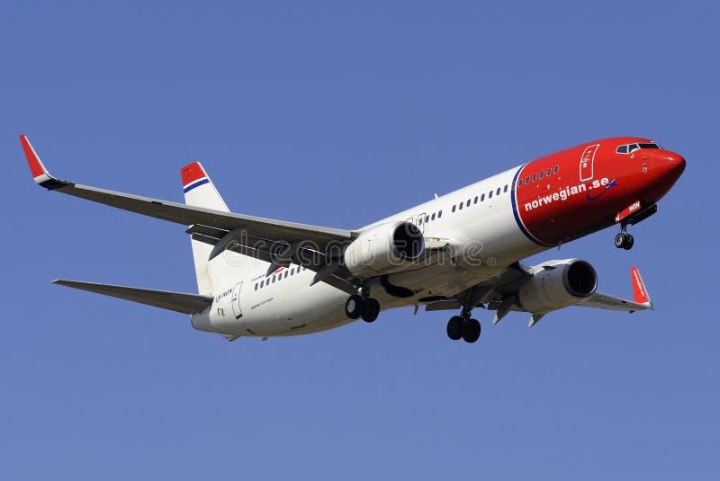 737 boeing royaltyfri bild