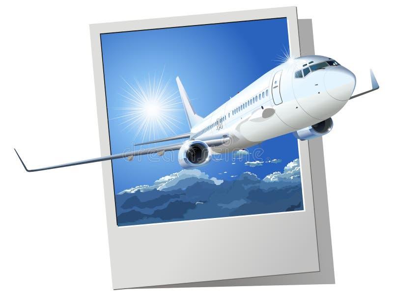 737 Boeing pasażera wektor ilustracji