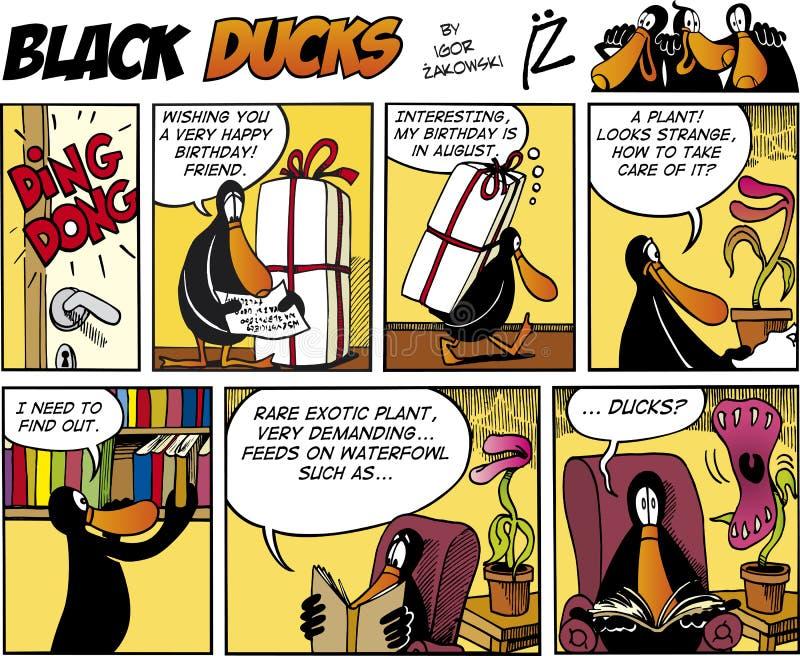 74 czarny komiczek kaczek epizod ilustracji