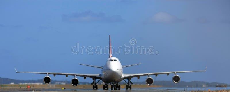 747波音喷气机庞然大物 免版税库存照片
