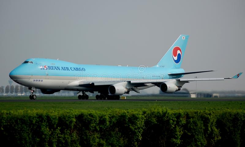 747空运货物韩文 免版税库存照片