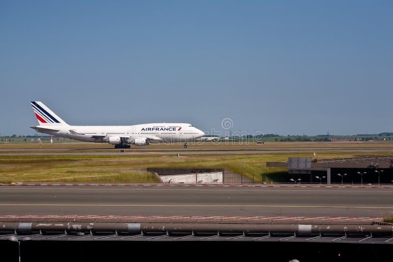 747航空波音法国 免版税库存图片