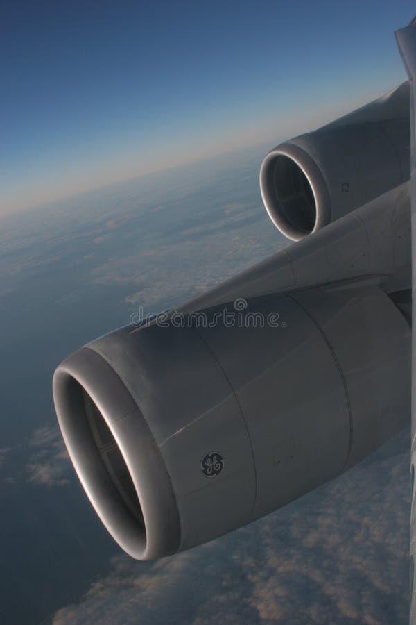 747 μηχανές στοκ φωτογραφία
